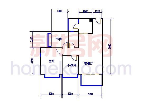F15栋2-16层02单元户型图面积92.49�O