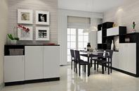 洁白为主调的现代美式风格餐厅家具