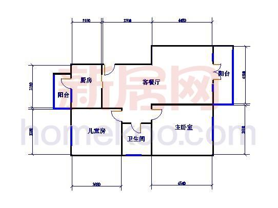E户型3室2厅3卫 153.55�O