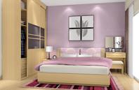浅紫色乡村风格房间设计效果图
