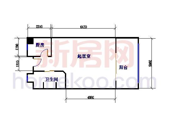A型1室1厅1卫 52.00�O