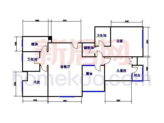 A5H 3室2厅2卫1厨 136�O