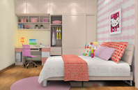 Hello Kitty-儿童房效果图