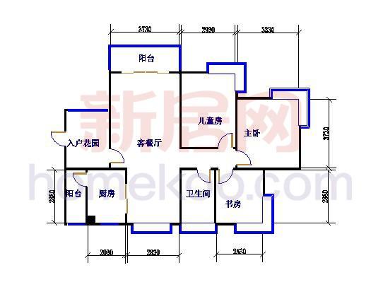 B1B1d 三室两厅一卫 108�O
