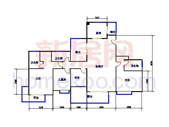 C6C6d 四室两厅三卫 184�O