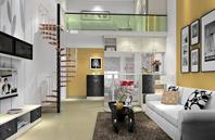 复式楼房单身公寓装修效果图