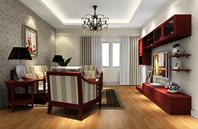 色调细腻高贵的美式客厅效果图