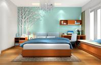 加州梦系列 卧房床效果图