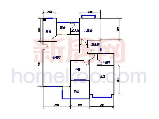 尼曼玫瑰园G、H、I、J座A单元134.3�O三房