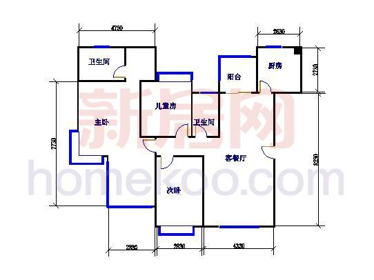 尼曼玫瑰园G、H、I、J座B单元141.58�O三房