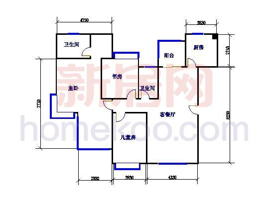 尼曼玫瑰园M、K座B单元143.44�O三房