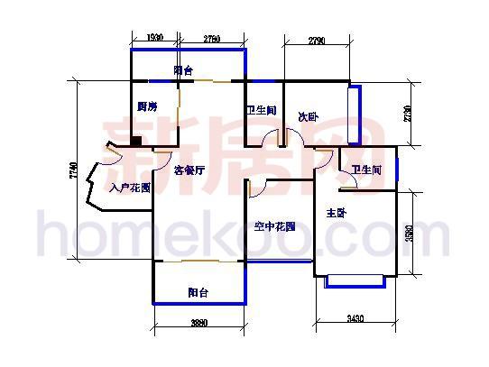 伊顿印象F,H,J-03;E,G,I,K-05户型图