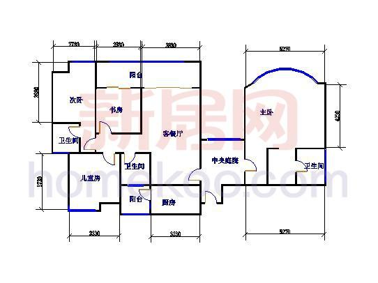 11、12座01单元168平方米4室2厅3卫168�O