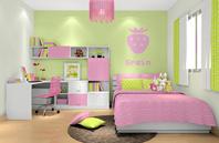 女孩子卧室效果图――草莓主题