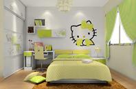 女孩子温馨清爽卧室效果图