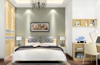 中式简约 合理的卧房效果图