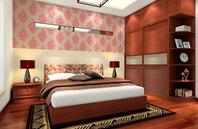 2013年中式风格主卧室装修效果图