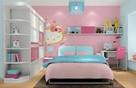 Hello Kitty儿童房家具装修效果图