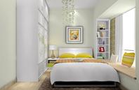小户型温馨现代卧室装修效果图