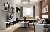 现代感二居室客餐厅装修效果图大全2012图片