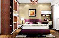 局部地中海风格卧室床效果图