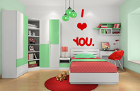 红红绿绿的儿童房效果图