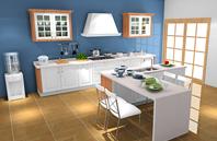2018新开放式厨房装修效果图