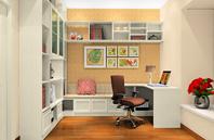 半开放式的书房设计效果图