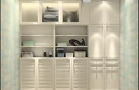 英伦风格客厅装饰柜效果图