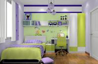 天真童话般的儿童房装修效果图