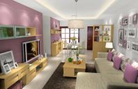 定制客厅家具之客厅隔断效果图