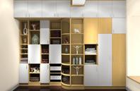 永不落伍的小户型客厅装饰柜