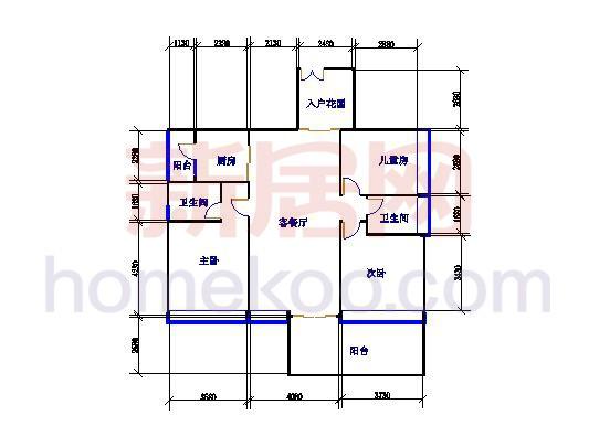 6栋A座02户型3室2厅2卫1厨 115.67�O