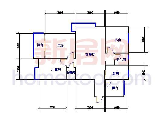3室2厅1卫 118�O