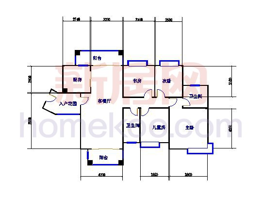 绿韵街11栋04单元4室2厅2卫1厨 139.98�O