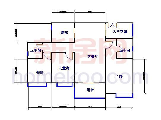 9#03 3室2厅2卫1厨 131�O