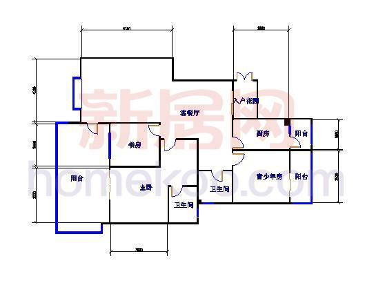 A3-1三房两厅 124.85�O