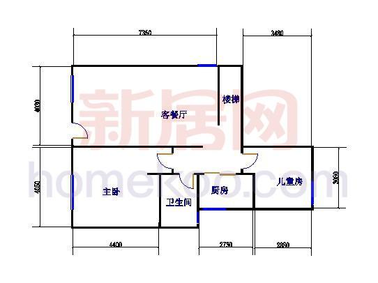 C户型两房两厅 180�O