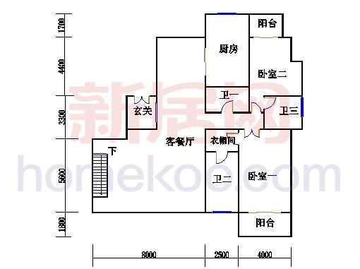 F-1户型复式上层(入户层)