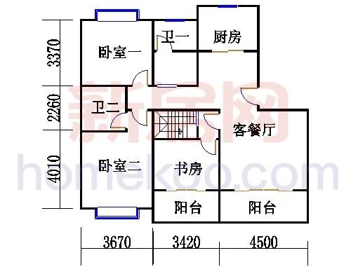 5、6号楼G1'单位复式下层