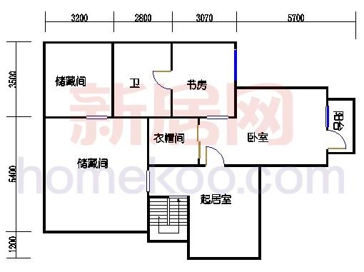 D3-D3反户型上跃二层平面