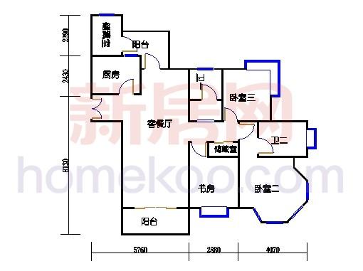 高层公寓8-9号楼C单元