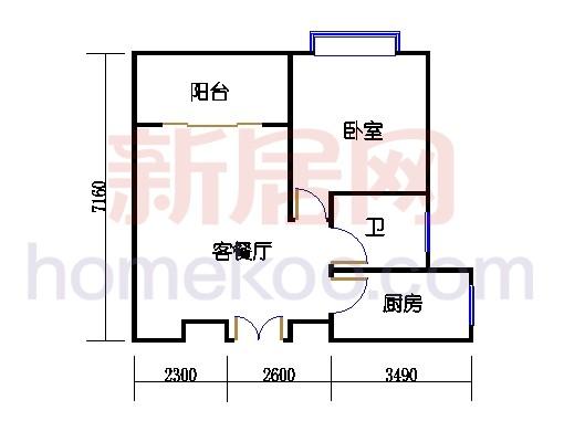 高层小层公寓2、3、4、10号B单元