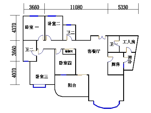 17号楼51单元01室(四至五层)