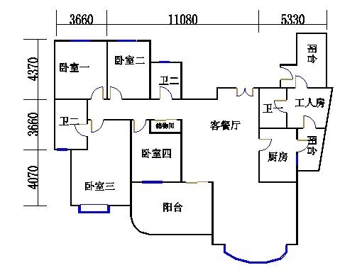 17号楼51单元01室(八至十七层)