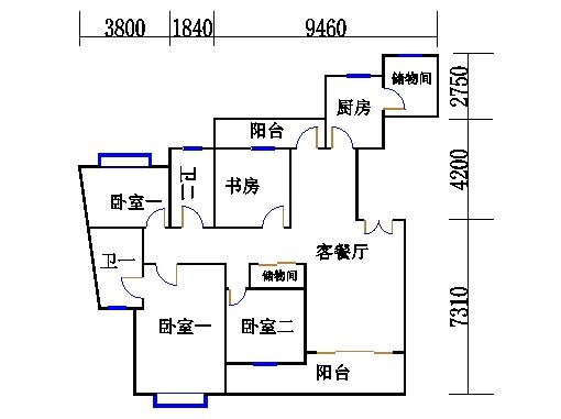 17号楼53单元02室(四至十二层)