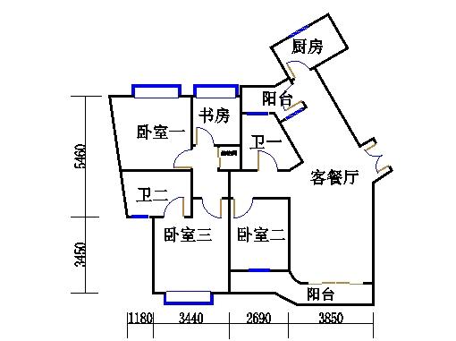 17号楼55单元02室(四至十二层)