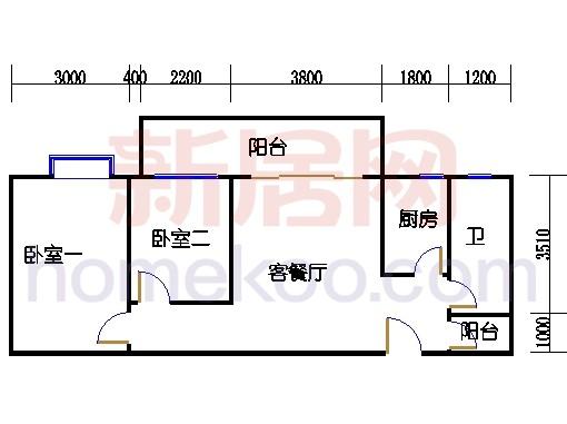 B栋14-17层04单位