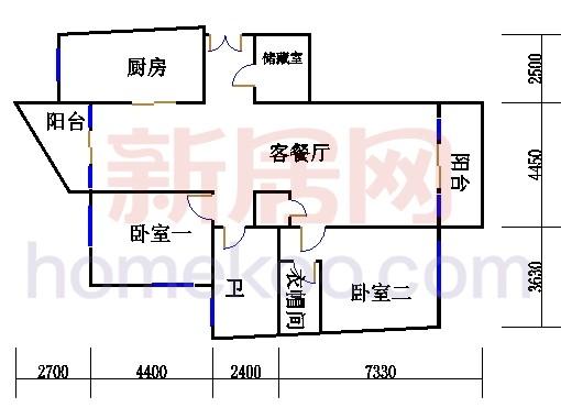 12号楼14-16层D户型