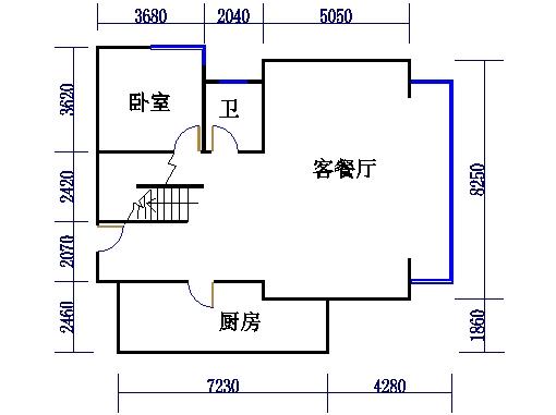 1、2号楼叠层02单元(叠下层)